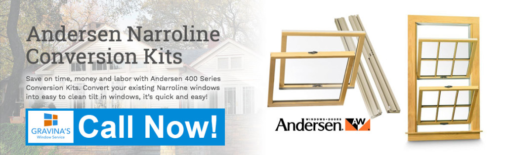 andersen double hun conversion kits, narroline conversion kits, narroline double hung windows, andersen tilt wash double hungs