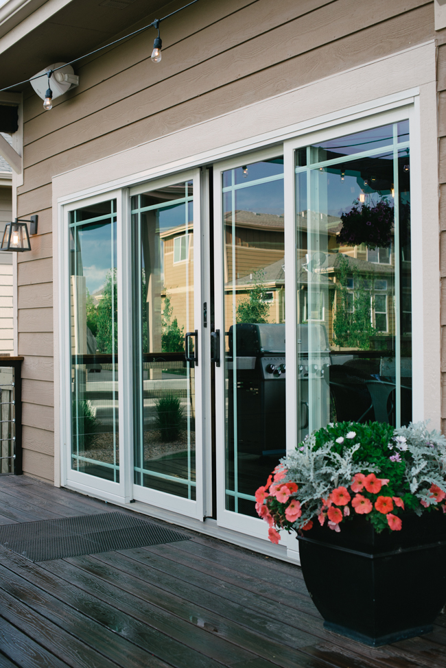 Andersen a series sliding patio door andersen windows for Six foot sliding glass door