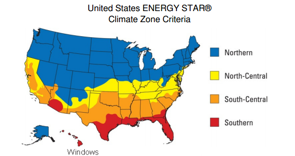 energy star climate zone US